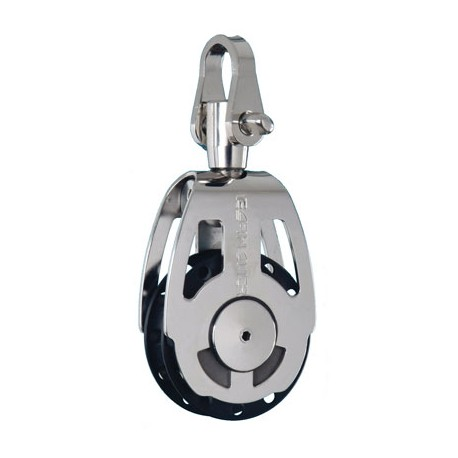 Poulie simple forte charge inox à manille série 50